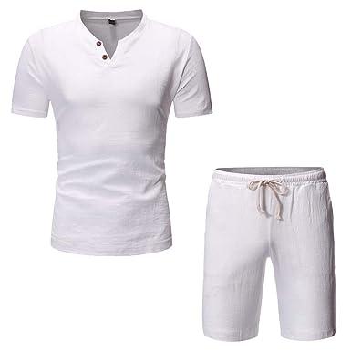 Conjunto Deportivo Hombre Talla Grande Verano Moda Camiseta ...