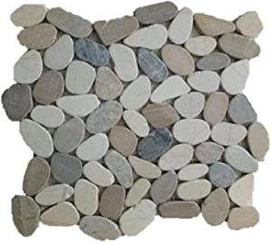 """Margo Garden Products PTS-HNWGT Rain Forest 12""""x12"""" Pebble Tiles (5.0 sq ft/case)"""