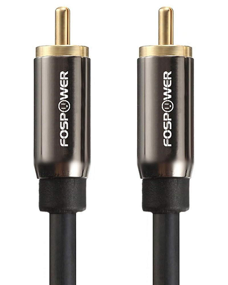 Amazon.com: FosPower (3 Feet) Digital Coaxial Audio Cable [24 K Gold Plated Connectors] Premium S/PDIF RCA Male to RCA Male: Home Audio & Theater