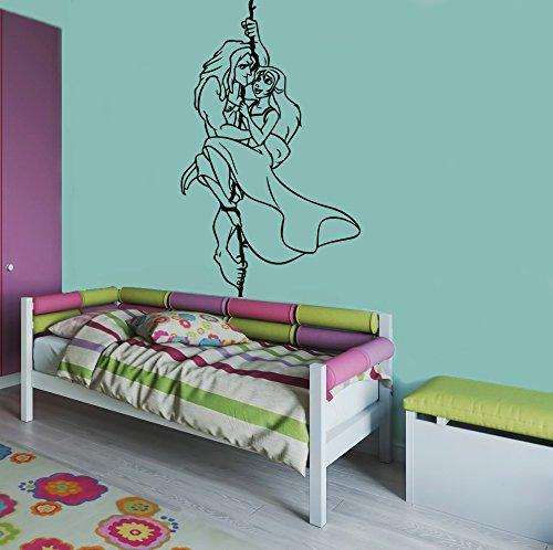 Tarzan & Jane Wall Poster Cartoon Walt Disney Vinyl Picture Tarzan Wall Vinyl Decal Decor for Home Child Kids Room Graphic Baby Nursery Image t4 ()