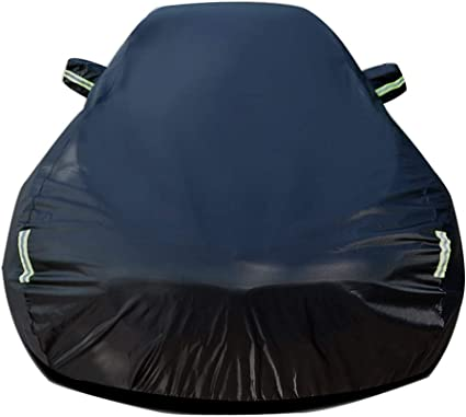 Color : Black Car Cover Compatible with BMW 2 Series Convertible Car Cover Waterproof Breathable Thick Sun Protection Rain Tarpaulin Canvas Heavy Duty Waterproof Car Cover