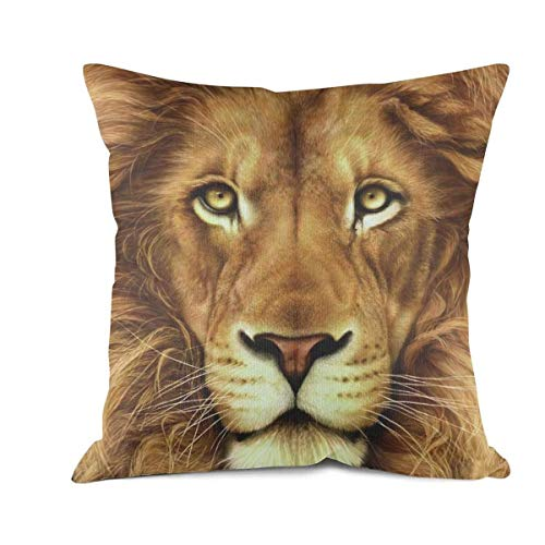 DSFDSFHBXGH Cushion Cover Cushion Cover Cool-Lion-face-Woven Pillow Throw Decorative Living Series Recovery Luxury 45 x 45 cm(18 x 18 Inch ) ()