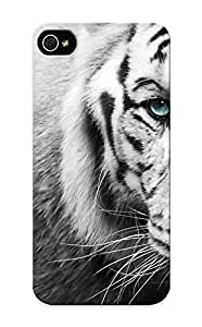 Freshmilk Iphone 5/5s Well-designed Hard Case Cover Tiger Face Eyes Black Protector For New Year's Gift