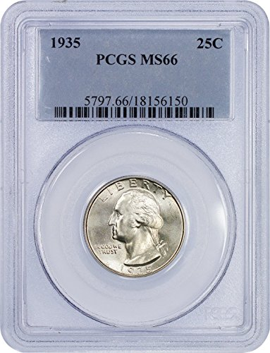 1935 P Washington Quarter Quarter MS-66 NGC