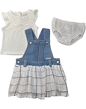 Baby Girls' Skirtall with S/S Tee & Panty