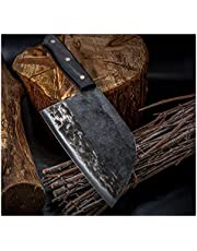 Full Chef Butcher Knife Handmade Forged High-carbon Clad Steel Kitchen Knives Cleaver Filleting Slicing Broad Knife
