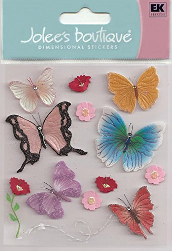 Jolee's Boutique Themed Ornate Stickers-Pop-Up Spring Butterflies