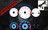 Brand New White Face Blue Indigo Reverse Glow Gauges For 98-02 Honda Accord l4 MT-C181