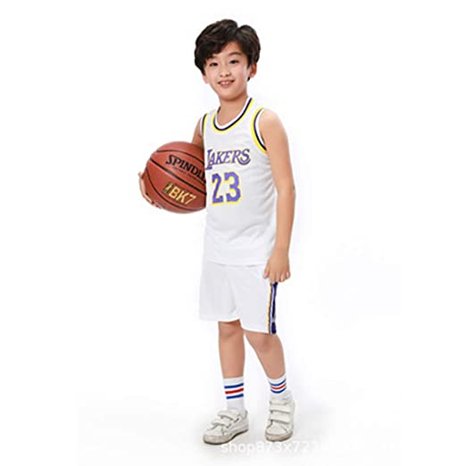 # 23 Lakers James Formesy Camiseta Baloncesto ni/ño//Basketball Jersey Set para Unisex #11 Celtic Irving Traje De Baloncesto De Verano Conjunto De Dos Piezas para Ni/ño Ni/ña # 13 Rocket Harden