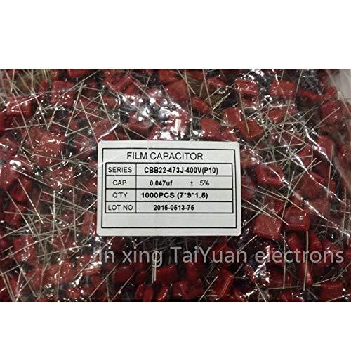 P = 10 mm pcs50 Cbb22 CBB 0.047 uF 473J 400 v Metallized Polypropylene Fillm kapasitor