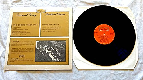 Ludwig Hoffman LP Grieg Piano Concerto A Minor Chopin 3 Etudes - Stereo Gold Award classics 1975 - Near Mint Cover In Shrink Wrap - Import From UK - Bamberg Symphony