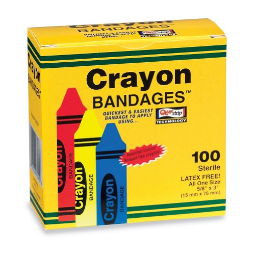 Case Crayon Bandages - 1200 per pack by SmileMakers