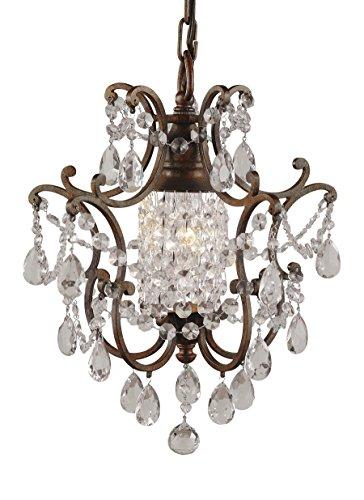 Murray Feiss F1879/1BRB, Maison De Ville Mini Crystal Chandelier Lighting, 1LT, 100 Watts, Bronze (Gold Mini Chandeliers Crystal)