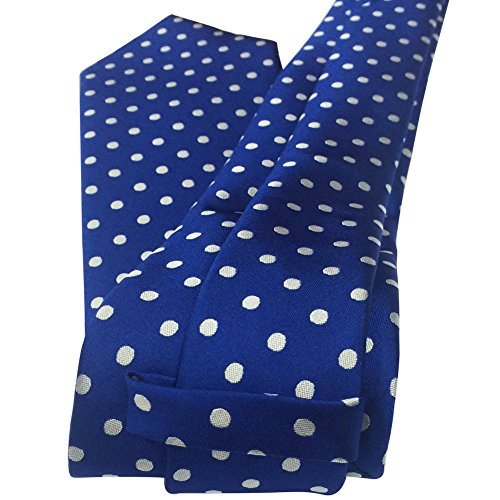 Mens 8cm White Classic Tie Polka Dots Colors Necktie and Fashion Blue 2'' New Silk Dots 3 Various Woven Polka YxqraYWgwn