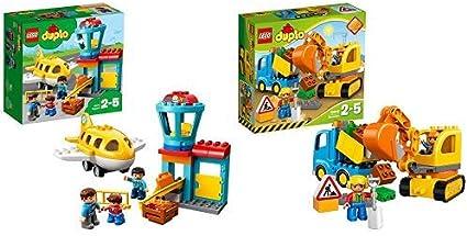 Lego Duplo 10871 Flughafen Ideales Spielzeug Für Kinder Im Alter Von 2 Bis 5 Jahren Duplo 10812 Bagger Und Lastwagen Ideales Geschenk Für 2