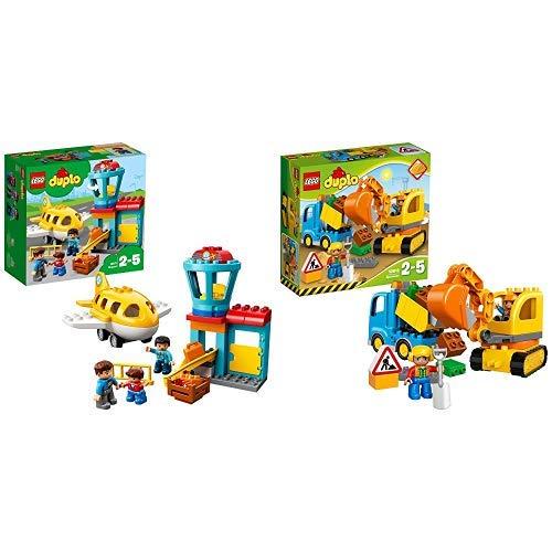 LEGO Duplo 10871 - Flughafen, Ideales Spielzeug für Kinder im Alter von 2 bis 5 Jahren &  Duplo 10812 - Bagger und Lastwagen, Ideales Geschenk für 2 Jährige B07PN55FB7 Bau- & Konstruktionsspielzeug Guter Markt | Verrückter Preis, Birmingham