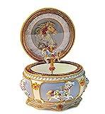 Antique JP Premium Classical Unicorn Music Box Jewelry Box for Women Men Girls Boys 18 Note (Tune Canon in D)