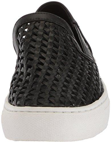 Steven By Steve Madden Womens Keats Sneaker Nero In Pelle Scamosciata
