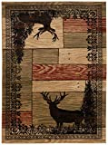 Mayberry Rugs AD8065 2X8 AMER DEST Woodgrain Elk Area, 2'3'' x7'7, Multi