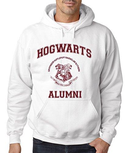 New Way 129 - Hoodie Hogwarts Alumni Unisex Pullover Sweatshirt Small White