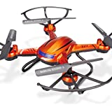 jrelecs Quadcopter with Camera, H12W 2.4GHz 4CH 6-Axis Gyro WIFI FPV RC Quadcopter RC Drone with 2.0MP HD Camera 360 Degree Eversion UAV