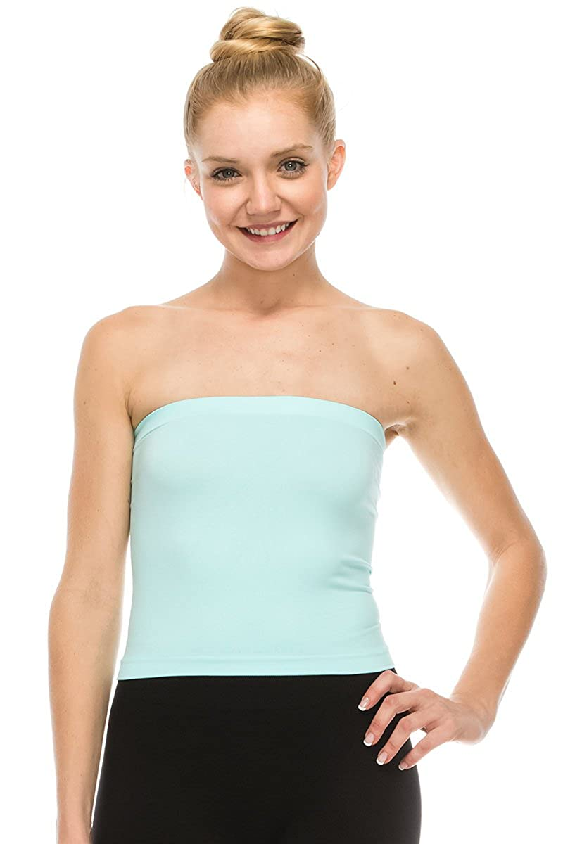 b57bdda472 Kurve Medium Length Bandeau Tube Bra Strapless Top - UV Protective Fabric  UPF 50+ (Made with Love in The USA) at Amazon Women s Clothing store