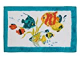 Creative Bath Products Rainbow Fish Rug