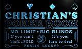 pd1564-b Christian's Man Cave Poker Room Bar Neon Sign