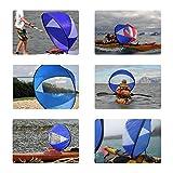 Olilio 42 inches Downwind Wind Sail Kit Kayak Wind
