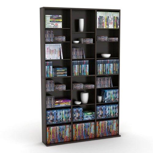Atlantic Oskar Wood Cabinet - Atlantic 38435683 Oskar 756 Media Storage Cabinet (Espresso) (Discontinued by Manufacturer)