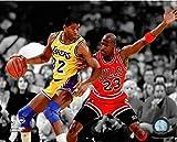 Magic Johnson & Michael Jordan NBA Action Photo (Size: 20'' x 24'')
