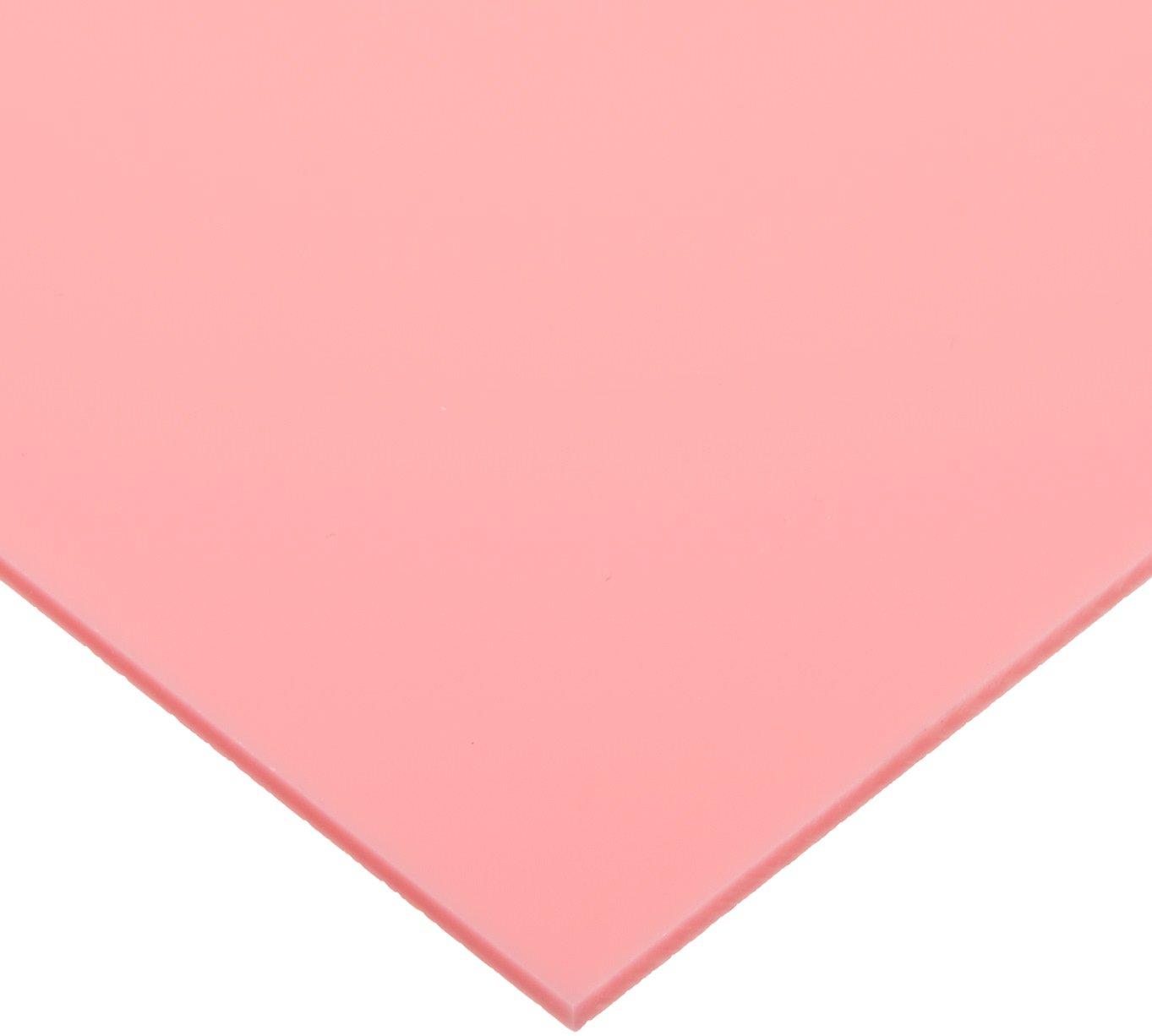 Cast Acrylic Sheet, Translucent Pink, 12' x 12' x 0.118' Size 12 x 12 x 0.118 Size Plastics 2000 904983