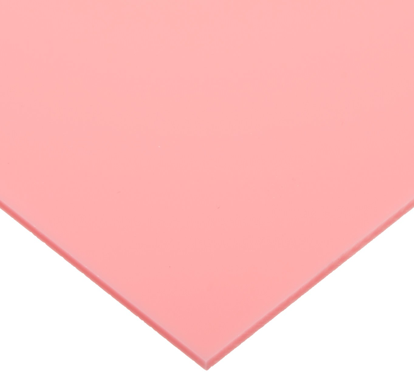 "Cast Acrylic Sheet, Translucent Pink, 12"" x 12"" x 0.118"" Size"