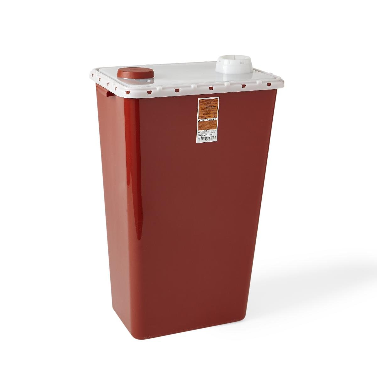 Medline MDS705218ST Biohazard Containers, 18 gal, Star, Red (Pack of 5)