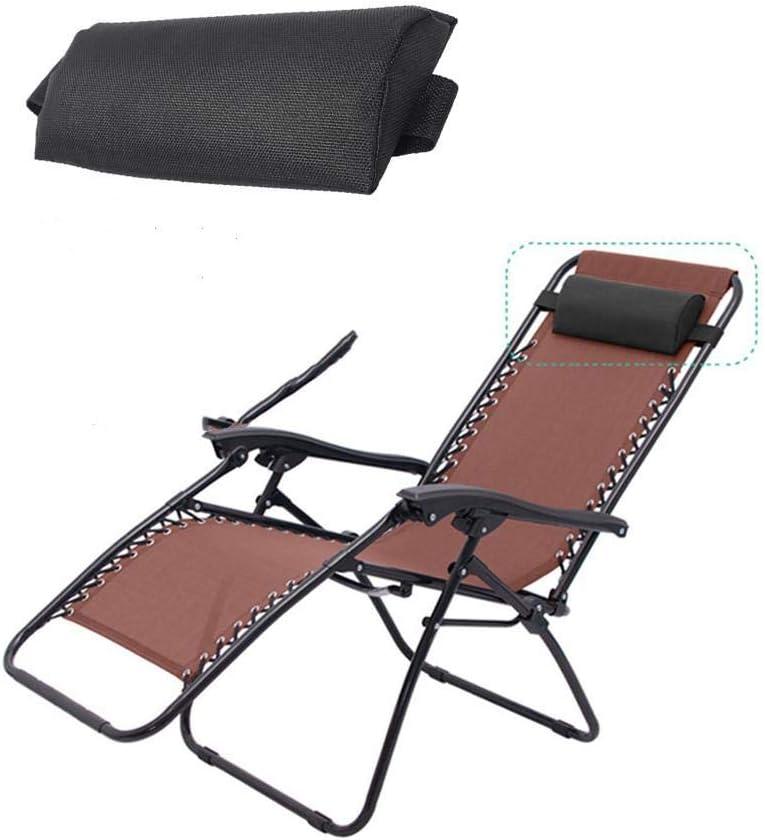 Almohada para silla de cuello con reposacabezas de repuesto universal para silla plegable, accesorios reclinables de apoyo Almohada para silla de gravedad cero Reemplazo de almohada para cuello ligero