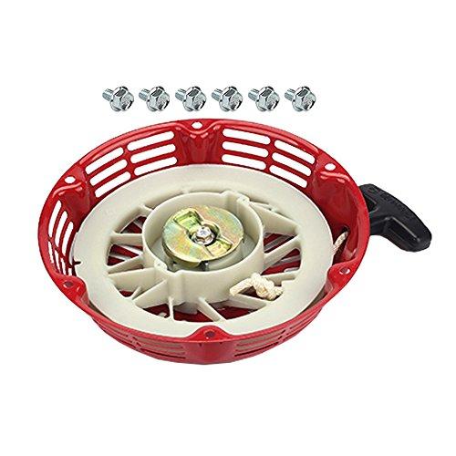 Hipa 0G9798 Recoil Starter + Mounting Bolt for Generac GP5000 GP5500 GP6000 GP6000E GP6500 GP7500E GP8000E 5KW 5.5KW 6KW 6.5KW 389cc 420cc Portable Generator