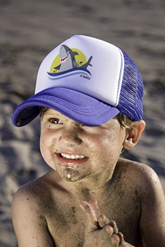 JP DOoDLES Shark on Kids Trucker Hat. Kids Baseball Cap is Available in Baby, Toddler, and Youth Sizes.