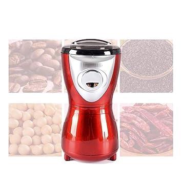 Molinillo de café profesional molino eléctrico rojo pequeño molino de grano de grano de café para