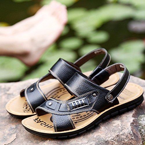 Scarpe da ping-pong scarpe da spiaggia di grandi dimensioni Scarpe da beachwear, nero, UK = 9.5, EU = 44
