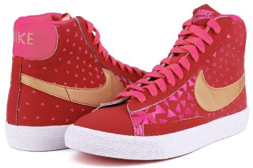 Nike - Zapatillas de deporte Blazer Mid Vintage (GS) , Bebé-Niñas , Blanco (Black/White-Hyper Punch 010) Rose
