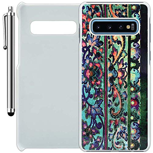 Custom Case Compatible with Galaxy S10 (Floral Art Malaya) Plastic White Cover Ultra Slim | Lightweight | Includes Stylus Pen by Innosub