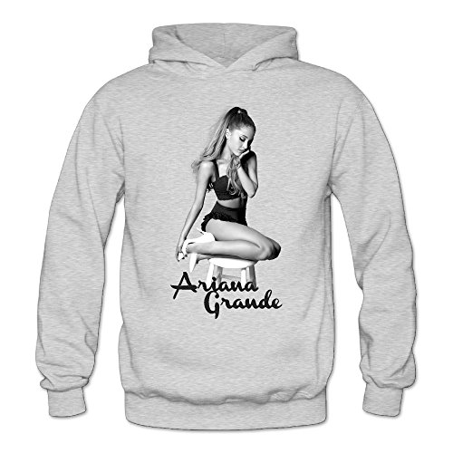 Hill Cotton Curtain (T121 Ariana Poster Grande Cool Long Sleeve Sweatshirt for Women's Size L Ash)