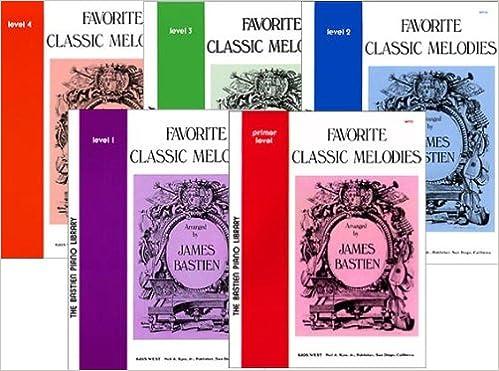 favorite classic melodies 5 book set bastien piano library primer level 4