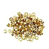 CHLZYD 100 Pcs 4mm Titanium Eyelets Washer Leather DIY Shoes Cloth Craft Repair Grommet