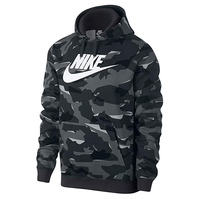 wholesale dealer c64c5 f454c Nike Herren M NSW Club Camo Hoodie Po Bbgx Sweatshirt