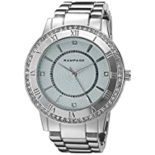 Rampage Women's 'Crystal Dial Band' Quartz Metal and Alloy Automatic Watch, Color:Silver-Toned (Model: RP1124SLLB)