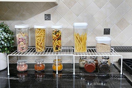 PRO-MART DAZZ Expandable Kitchen Storage Helper Shelf, White