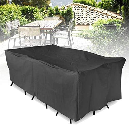 ダストカバー ガーデンテラス表チェア長方形シェルターアンチ紫外線防塵パッド家具防水カバー 屋外用家具保護カバー (色 : Black, Size : M)