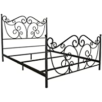 BellO B538QDB Metal Bed Frame Queen, Dark Bronze