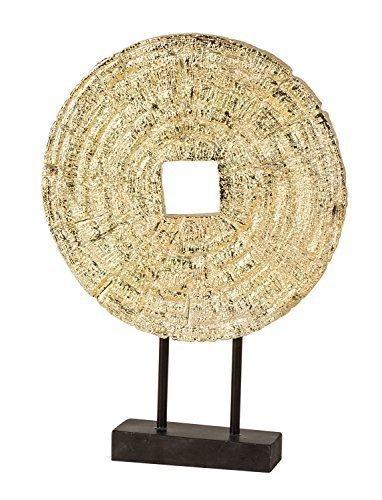 Edles Deko Objekt goldfarben aus Kunststein Höhe 33,5 cm inklusive Sockel